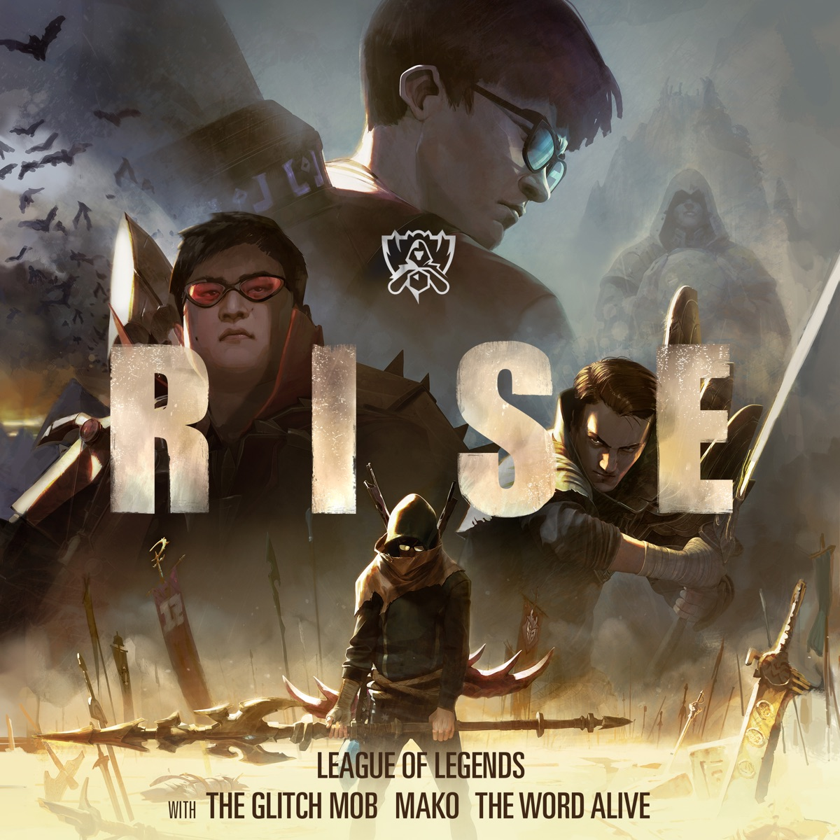RISE feat The Word Alive - Single League of Legends The Glitch Mob  Mako CD cover