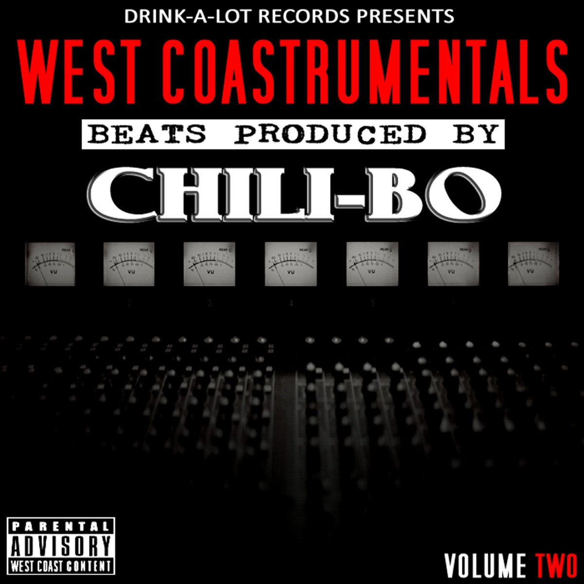 West Coastrumentals Vol 2 Chili-Bo CD cover