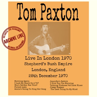Live in London 1970 - Tom Paxton