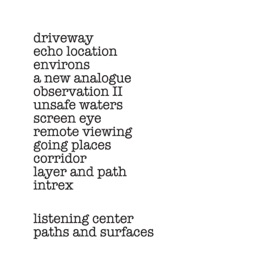 Paths and Surfaces by Listening Center