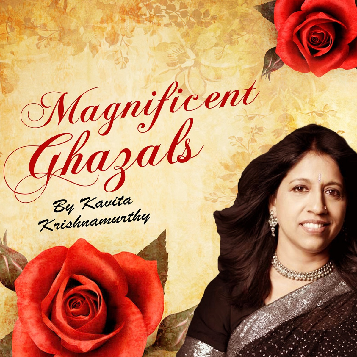 Magnificent Ghazals by Kavita Krishnamurthy Album Cover by