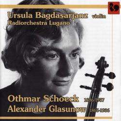 Album: Schoeck Violin Concerto Op 21 Glasunov Violin