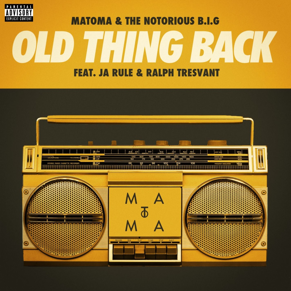 Old Thing Back feat Ja Rule and Ralph Tresvant - Single Matoma  The Notorious BIG CD cover