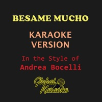 Bésame Mucho (Originally Performed by Andrea Bocelli) [Karaoke Backing Track] - Single