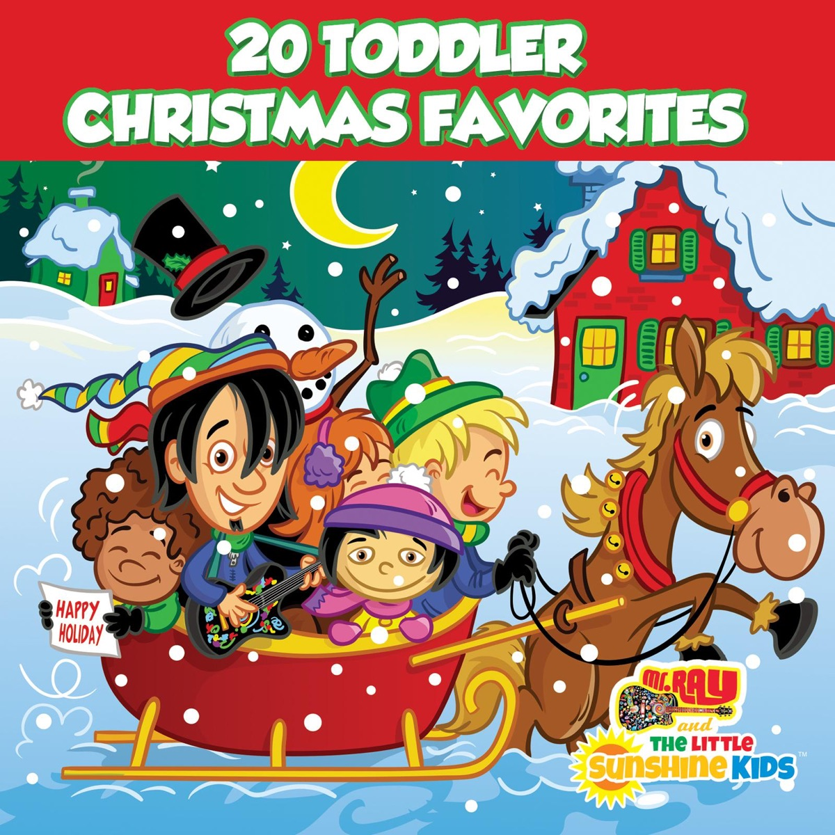 20 Toddler Christmas Favorites Album Cover by mr. RAY & The Little ...