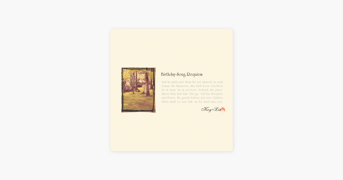 ‎Birthday Song, Requiem - Single by VisualArt's / Key Sounds Label on iTunes