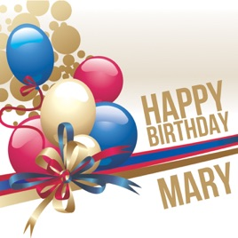 Happy Birthday Mary Single