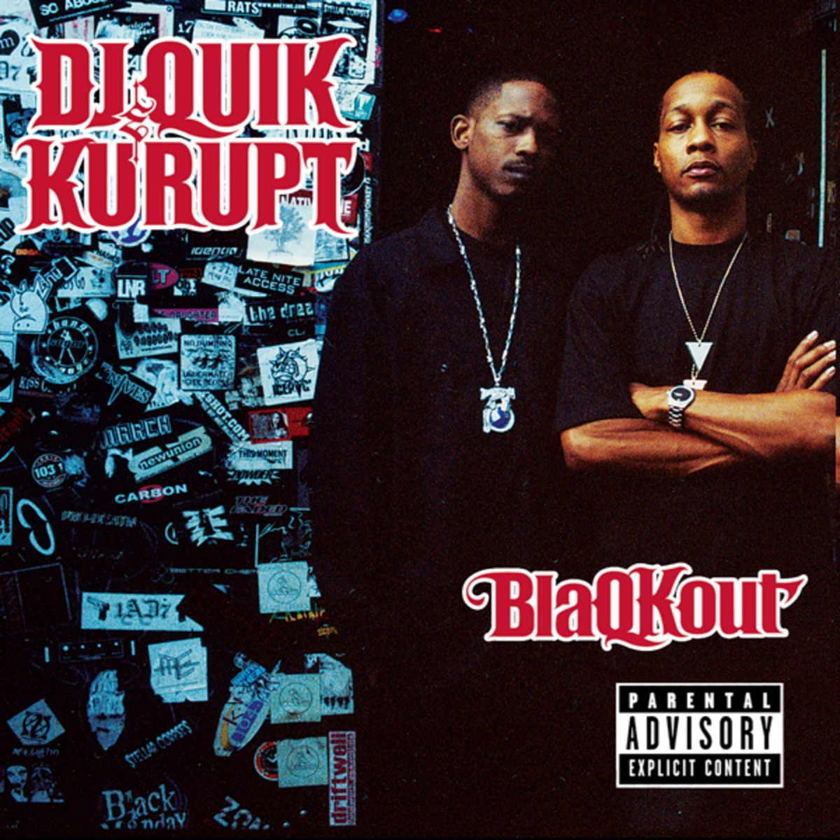 BlaQKout DJ Quik  Kurupt CD cover