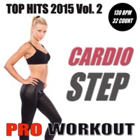 Pro Workout Music - Top Hits 2015 - Cardio Step Workout Vol.2 (Non-Stop Mix 130 BPM - Ideal for Step, Cardio, Running, Gym, Cycling and General Fitness)