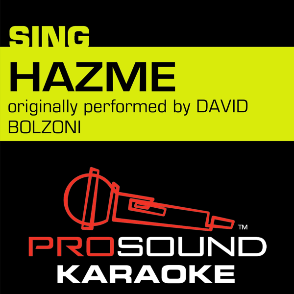 ‎Hazme (Originally Performed by David Bolzoni) [Instrumental Version] -  Single by ProSound Karaoke Band