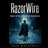 Podcast cover art for RazorWire: After Civilization Serialized Audiobook Podcast