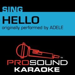 Hello (Originally Performed by Adele) [Instrumental Version]
