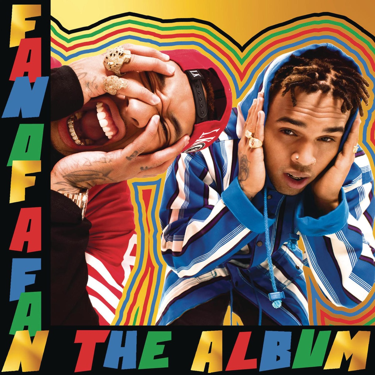 Fan of a Fan the Album Deluxe Version Chris Brown X Tyga CD cover