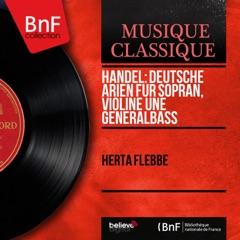 Handel: Deutsche Arien für Sopran, Violine une Generalbass (Mono Version) - EP