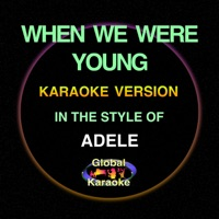 When We Were Young (In the Style of Adele) [Karaoke Backing Track] - Single