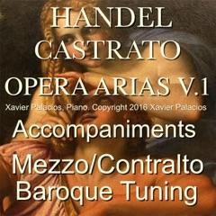 Handel Castrato Opera Arias Accompaniments: Mezzo and Contralto (Baroque Tuning), Vol. 1