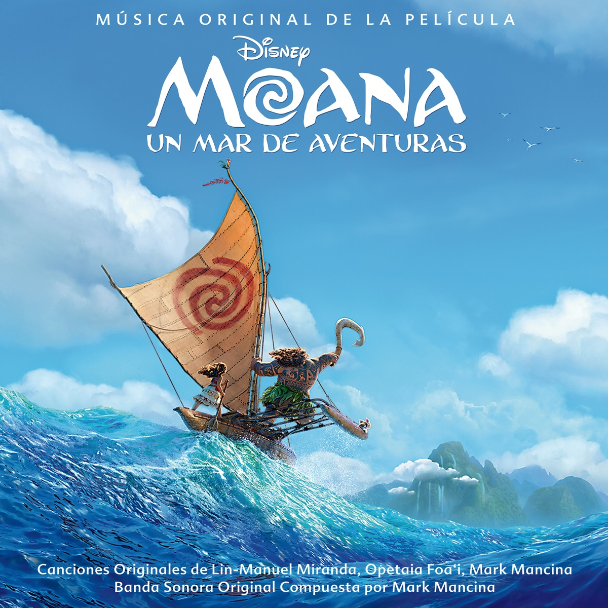 Moana Un mar de aventuras Sonora Original en Español Various Artists CD cover