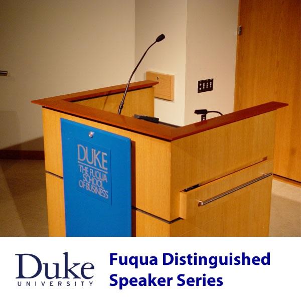 Fuqua Distinguished Speaker Series (Video - HD)