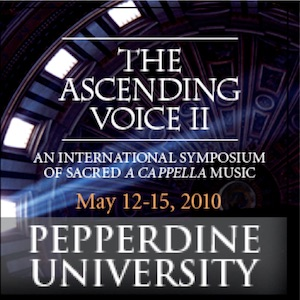 Pepperdine University Chamber Singers, May 12, 3:00 pm