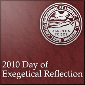 Day of Exegetical Reflection 2010