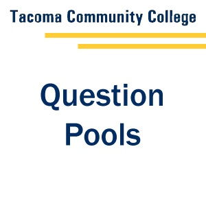 Question Pools - Tab 1