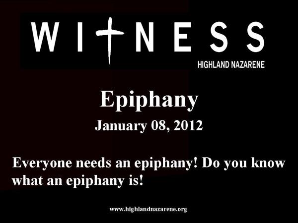 Highland Nazarene - Epiphany
