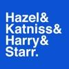 Hazel & Katniss & Harry & Starr artwork