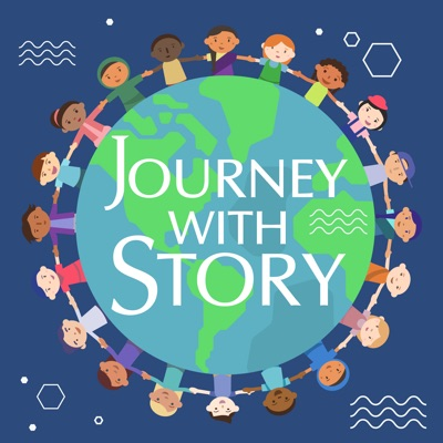 Journey with Story -  A Storytelling Podcast for Kids:Kathleen Pelley. audio story podcaster, audio book storyteller for kids, an