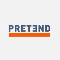 Podcast cover art for Pretend - a true crime documentary podcast