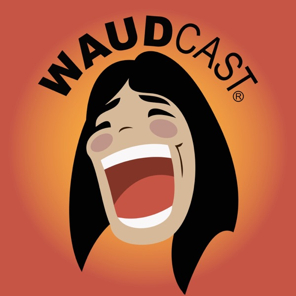 Suzy Waud 'Waudcast' banner backdrop
