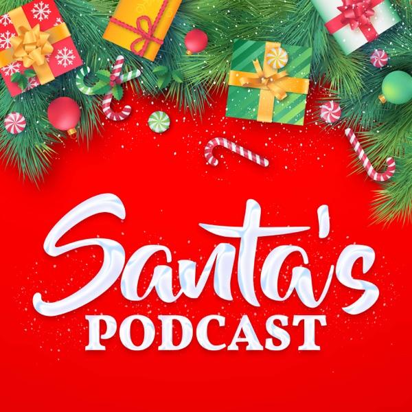 Santa's Podcast banner backdrop