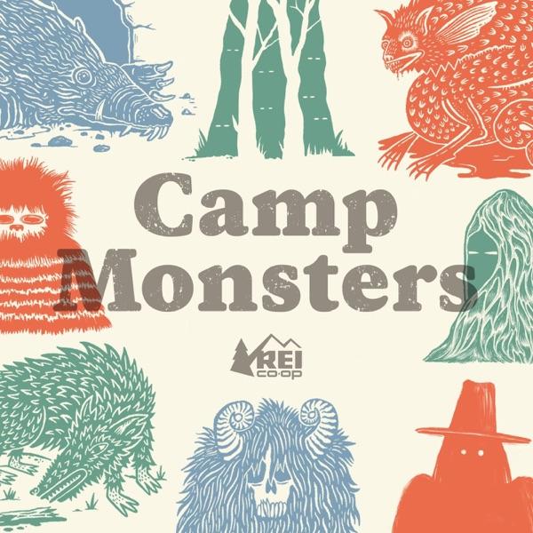Camp Monsters banner backdrop