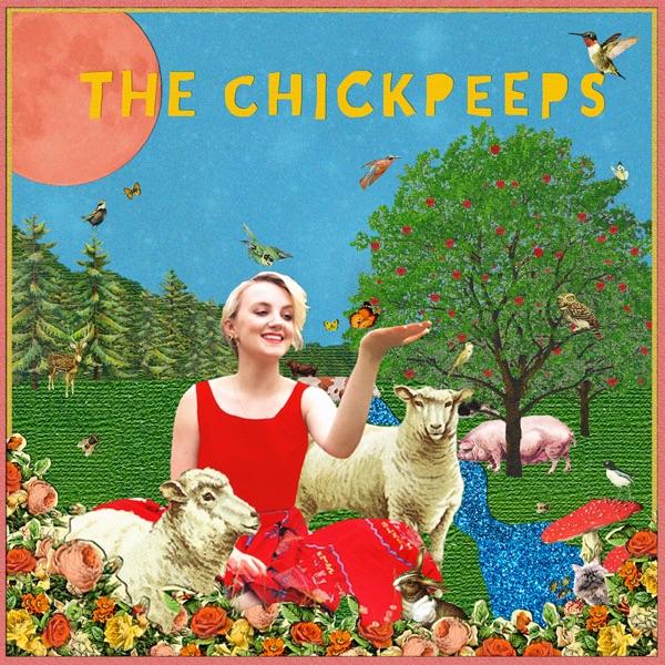 The ChickPeeps Vegan Podcast banner backdrop