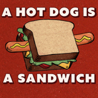 Podcast cover art of A Hot Dog Is a Sandwich