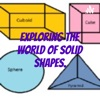 Exploring the world of solid shapes. artwork