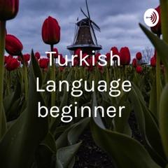 Turkish Language beginner