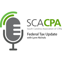 SCACPA's Weekly Federal Tax Update podcast
