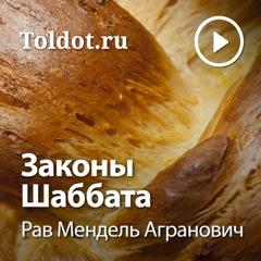 Рав Мендель Агранович  — Законы Шаббата