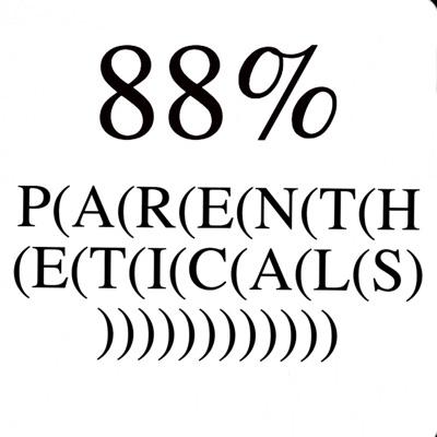 88% Parentheticals