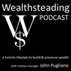 WEALTHSTEADING Podcast investing retirement money stock market & wealth artwork