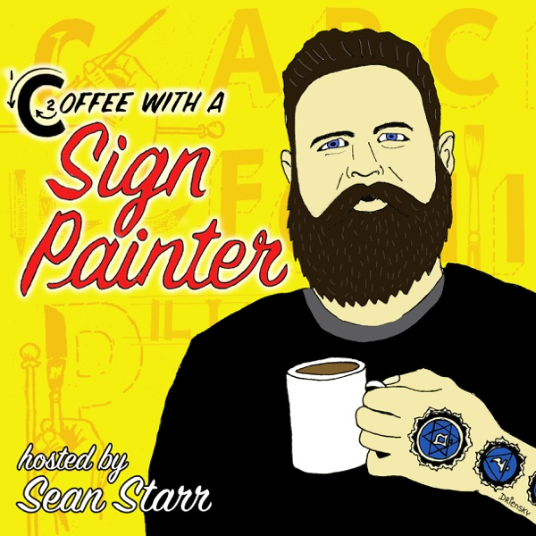 Coffee With a Sign Painter banner backdrop