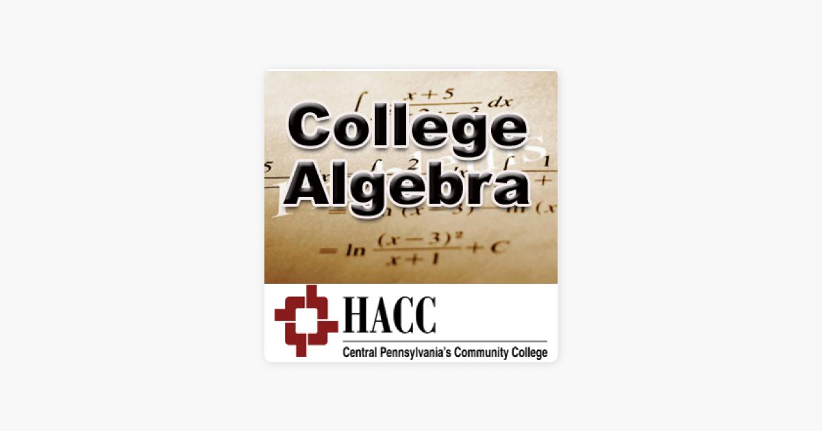 MATH 103: College Algebra - sc on Apple Podcasts