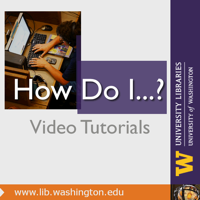 How Do I? UW Libraries podcast