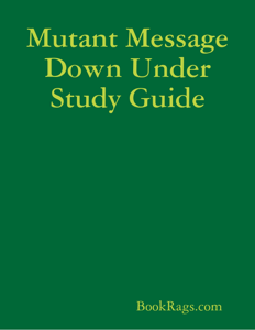 Mutant Message Down Under Study Guide Copertina del libro