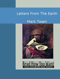 Letters From The Earth book