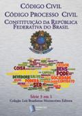 Série 3 em 1 Montecristo Editora: Código Civil Brasileiro, Código de Processo Civil, Constituição Da República Federativa do Brasi Book Cover