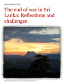 The end of war in Sri Lanka: Reflections and challenges