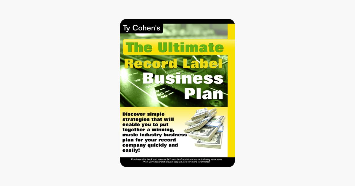 hip hop record label business plan