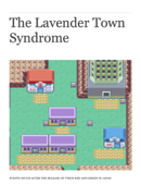 The Lavender Town Syndrome