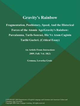 gravitys rainbow critical essay